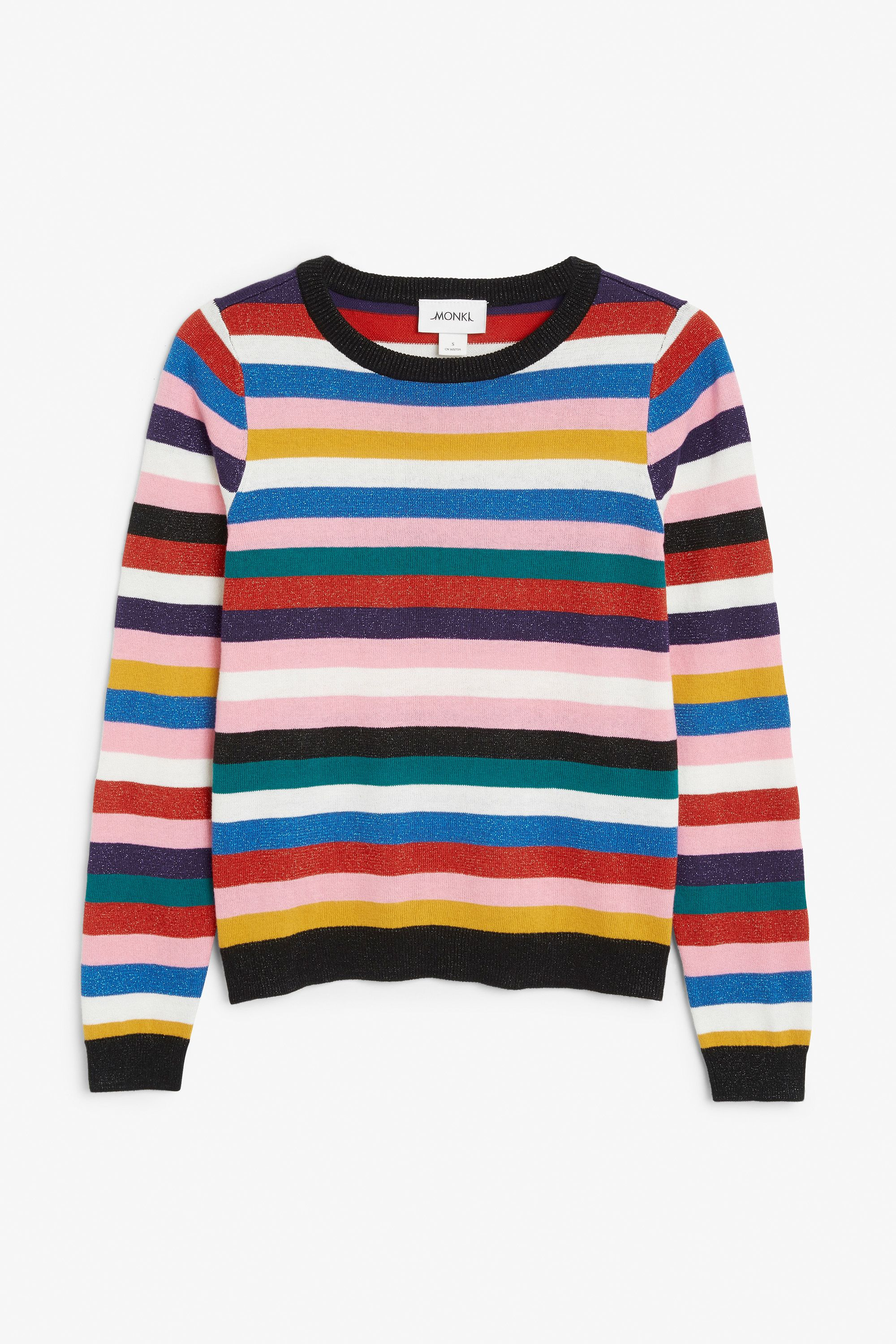 NEW! Glittery striped sweater | rad clothes | Pinterest | Monki ...