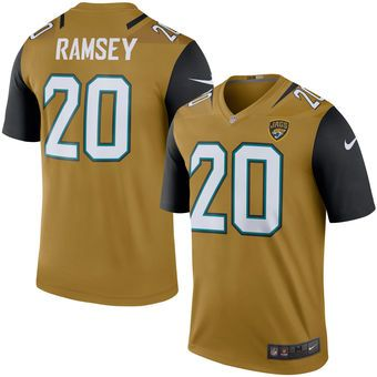 85e92006 Jacksonville Jaguars #20 Jalen Ramsey Gold Color Rush Legend Jersey ...