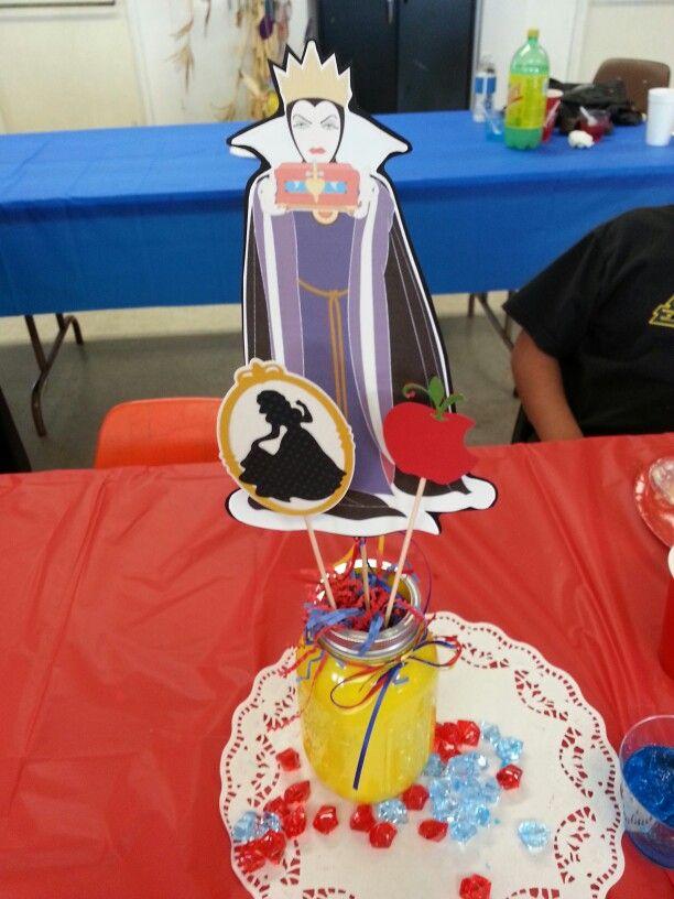 Evil queen centerpiece snow white birthday party