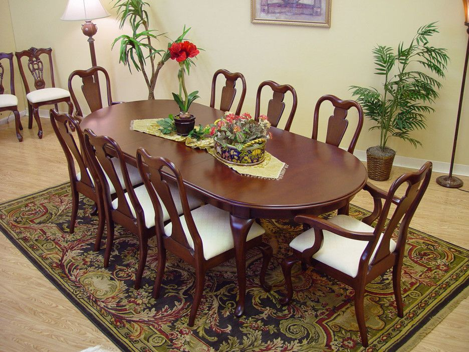 Image result for dark finish wooden dining room chairs with queen ...