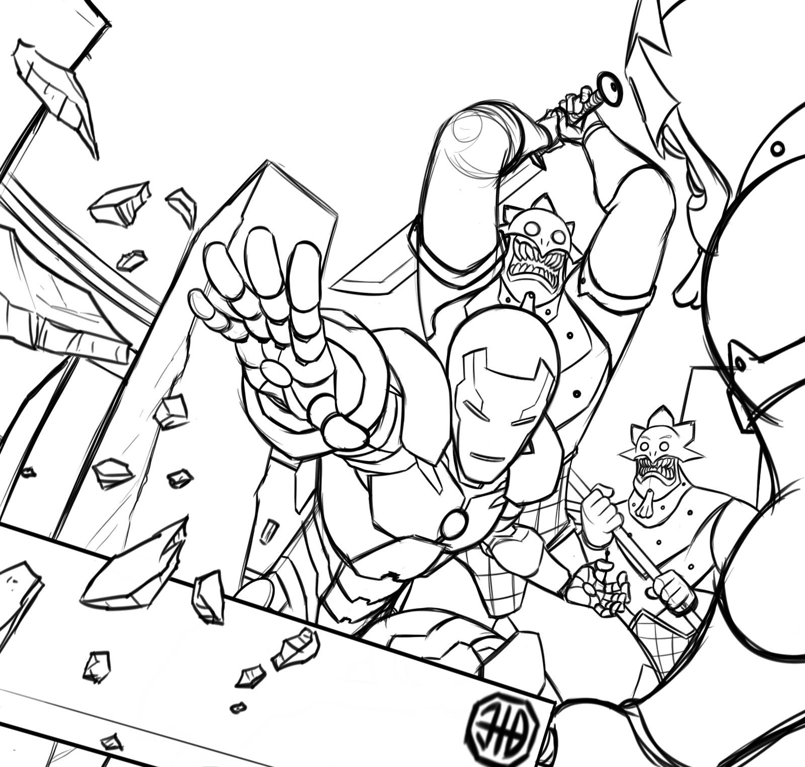 Iron Man | Avengers coloring pages, Avengers coloring ...