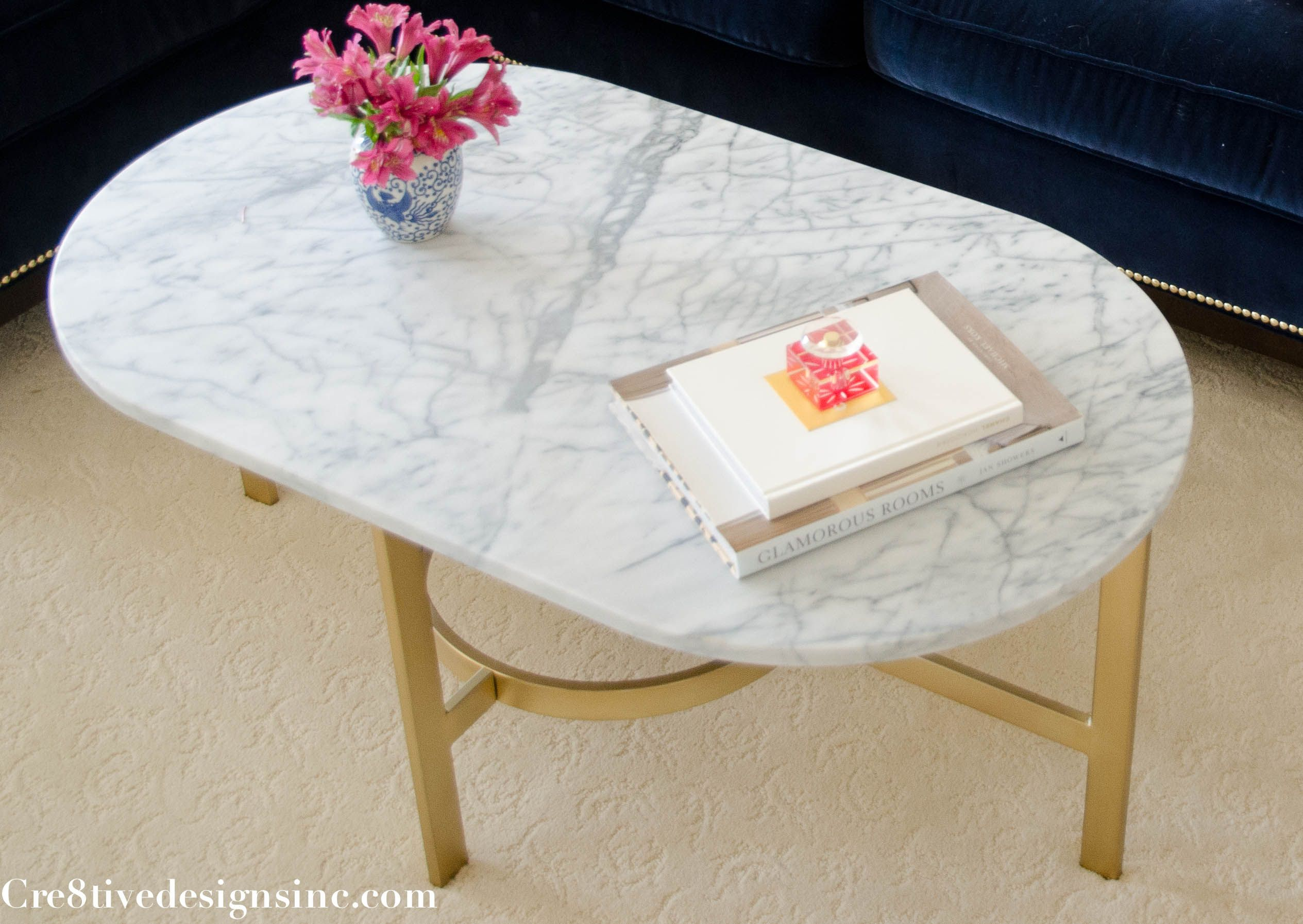 west elm oval marble coffee table holly Pinterest
