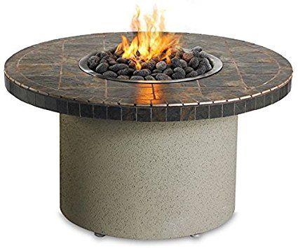 Sedona By Lynx Falcon Gray Circular Gas Fire Pit Table Propane