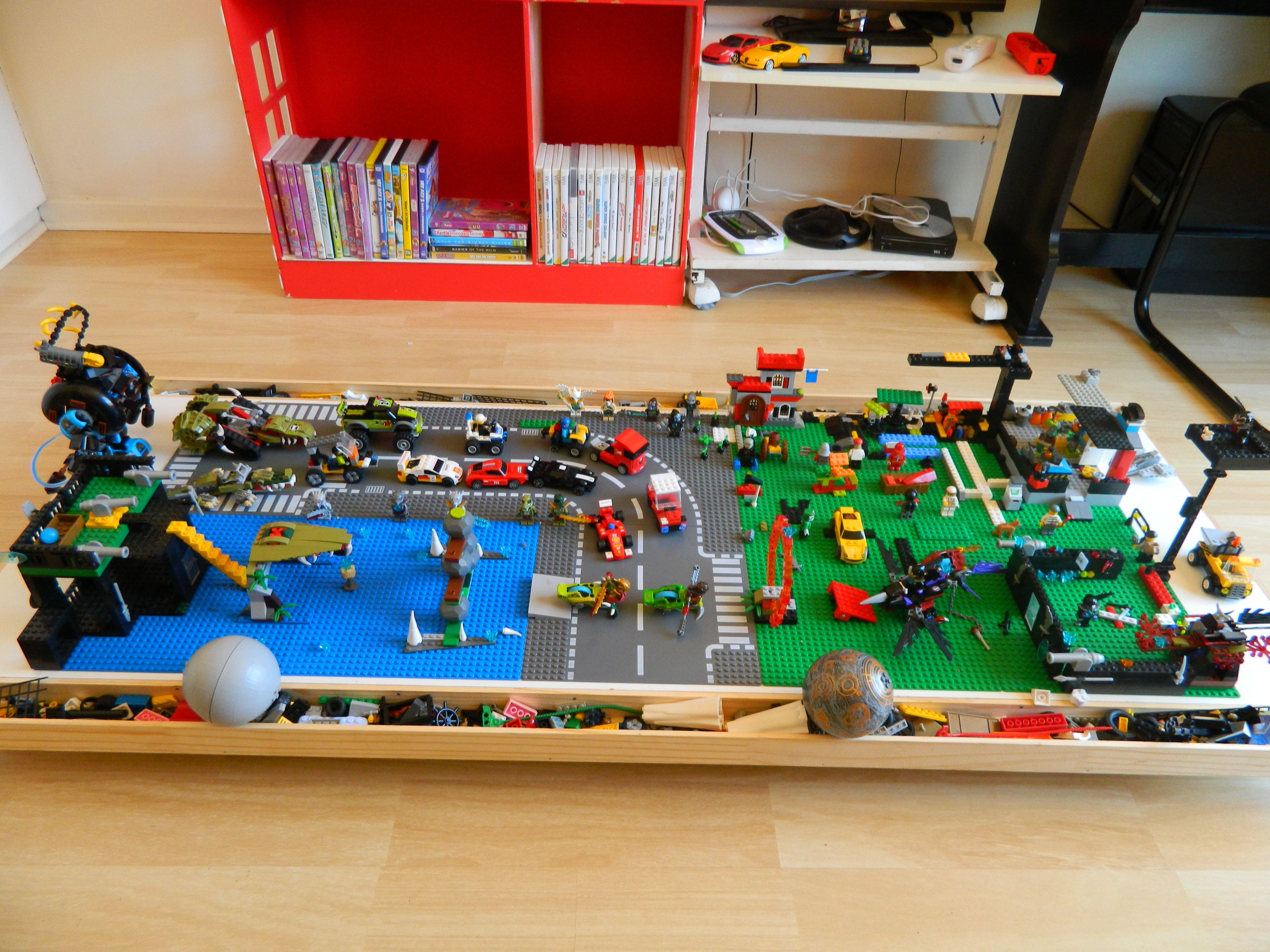 Beau Diy Under Bed Storage Lego Table... Going To Try Fit Gmanu0027s Train Set