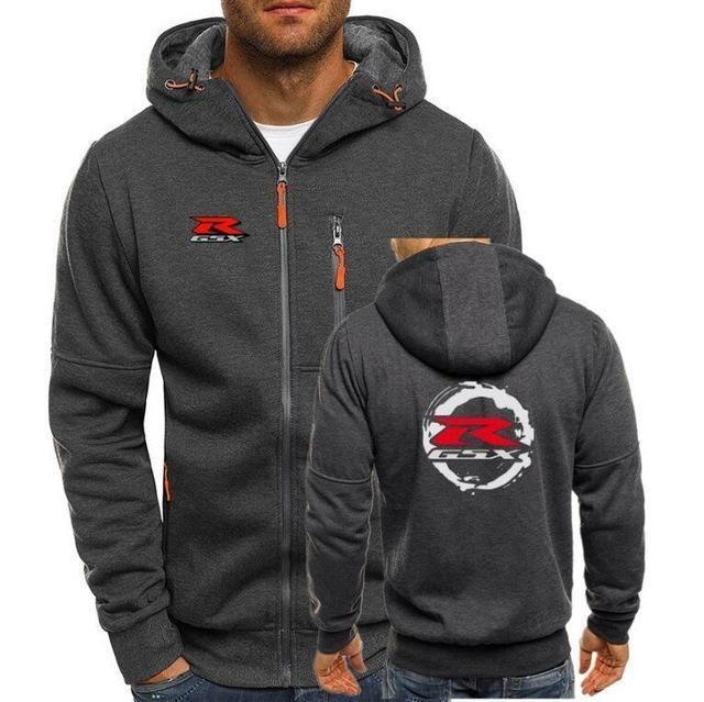 Bomber Hoodies Men Personality Zipper Sweatshirt Male
