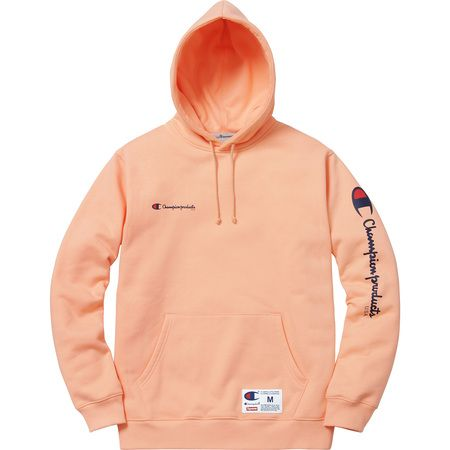 949b17ca68 Supreme x Champion collab Red Hoodie, Red Shirt, Sweater Hoodie, Champion  Hooded Sweatshirt