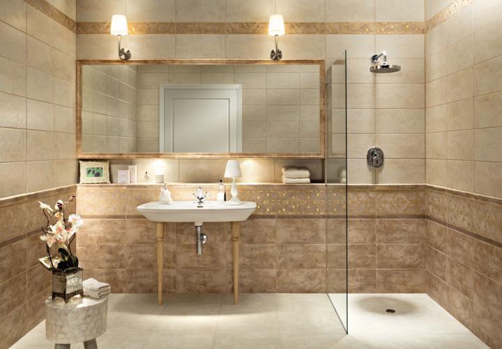 Tubadzin Lavish 22 3x44 8 Furdoszoba Csempek Tubadzin Cieply Klimat Csempek Padlolapok Tubadzin Csempe Weba Beige Bathroom Bathroom Framed Bathroom Mirror