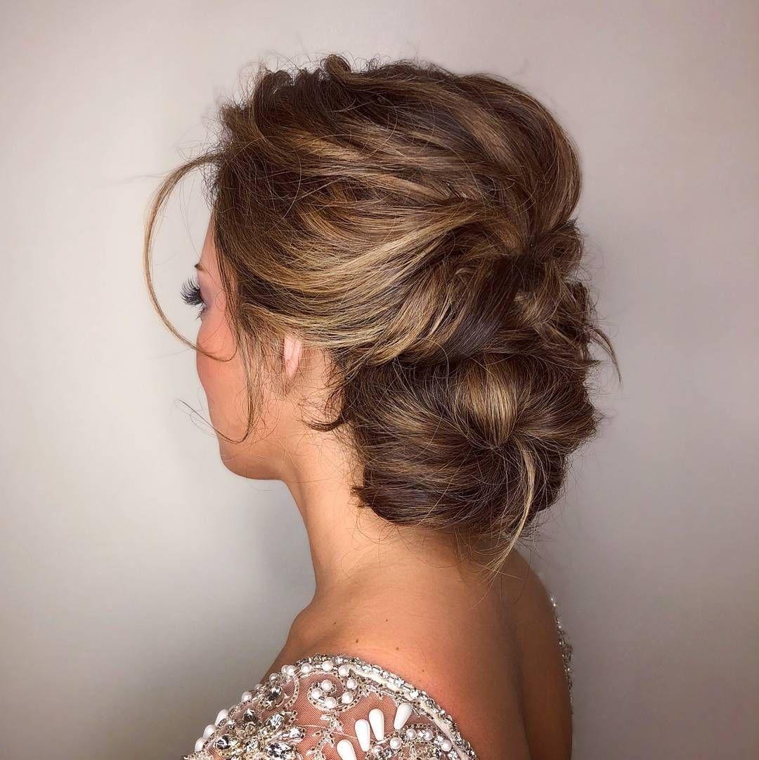beautiful side bun updo wedding hairstyle | chic & elegant