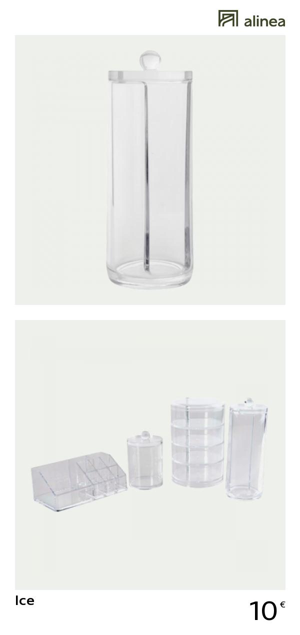 Alinea Ice Boite Disque Coton Deco Accessoires De Salle De Bains
