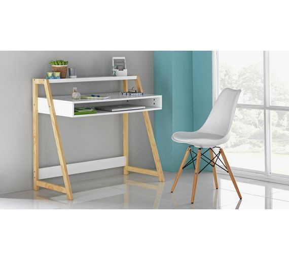Buy hygena basham office desk white at visit to shop online for Argos home office furniture uk