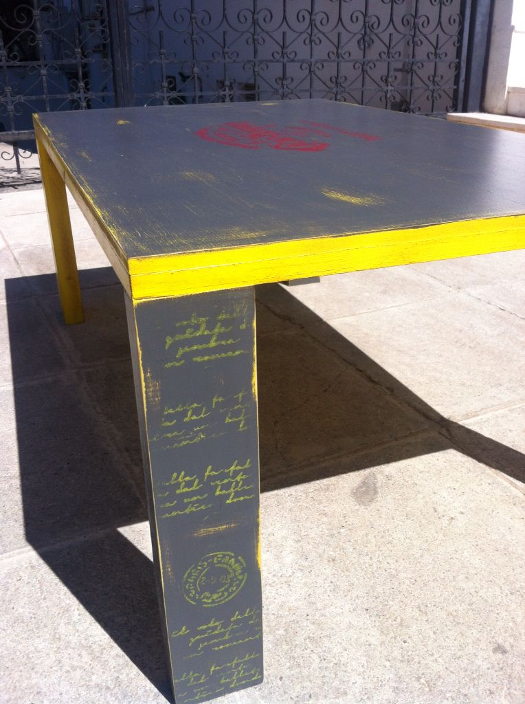 Stenciled Coffee table by Piccolaketi