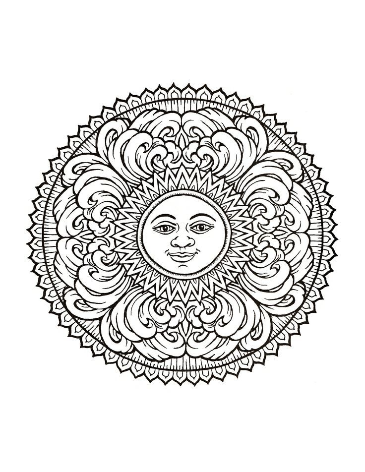 Mystical Mandala Coloring Book | Раскраски мандала ...