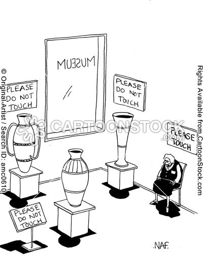 museum guide cartoons, museum guide cartoon, funny, museum