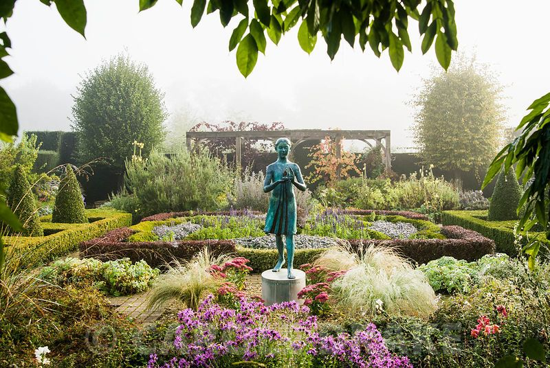 The Formal Garden, with knot garden made of box and