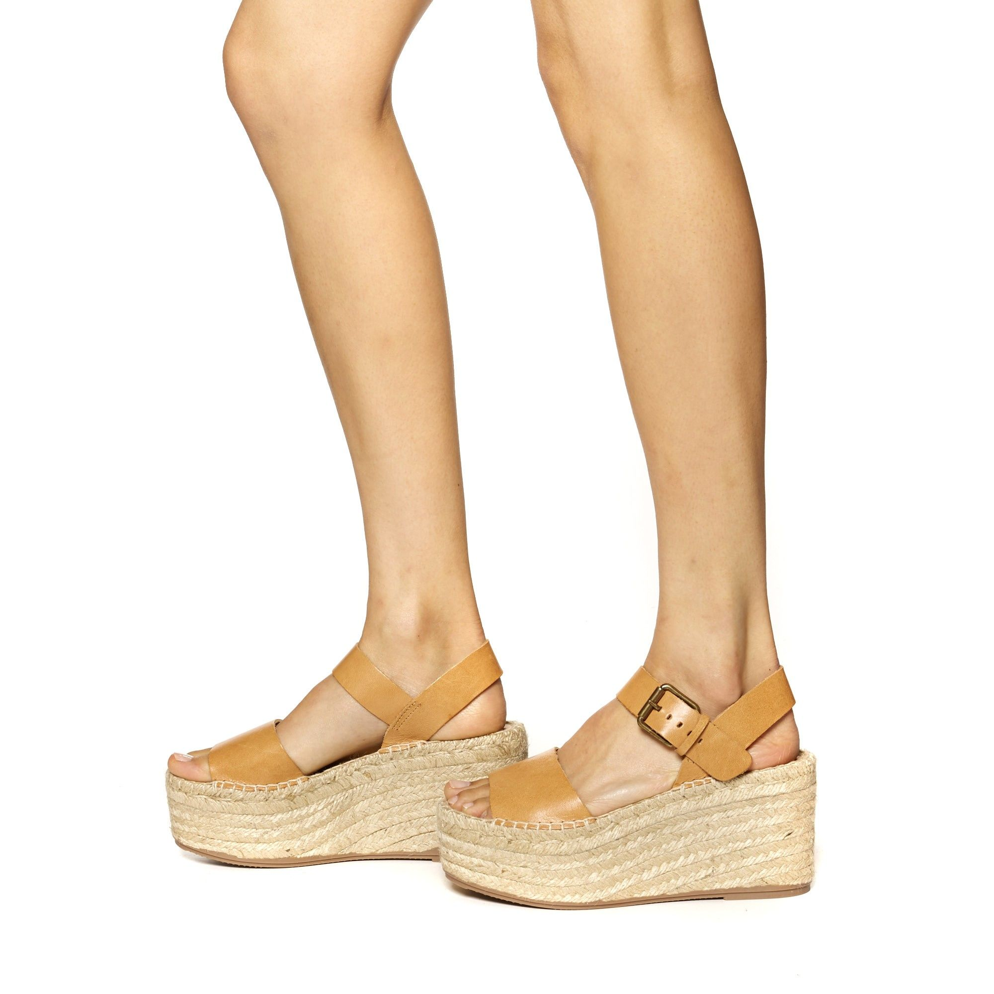 d943a3634da8 Soludos Minorca High Platform Sandal in Nude Leather - Soludos Espadrilles