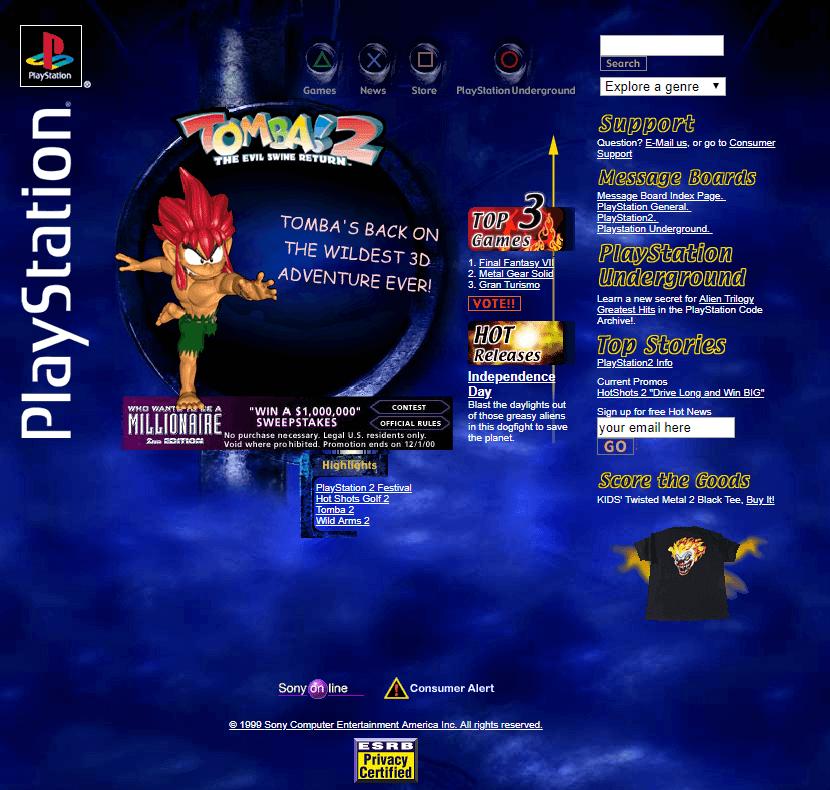 Playstation Flash Website In 2000 Web Design Design Museum History Design