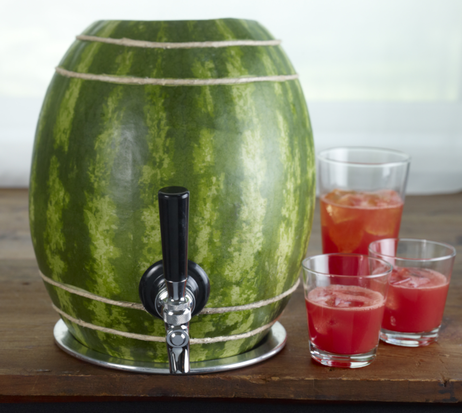 recipe: watermelon alcoholic punch bowl [15]