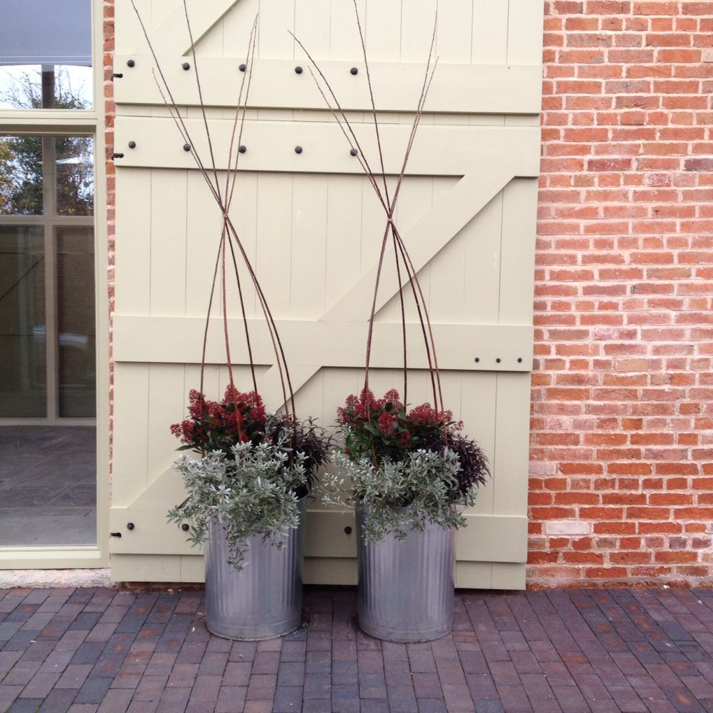 dustbin planters ready for winter more garden ideas pinterest