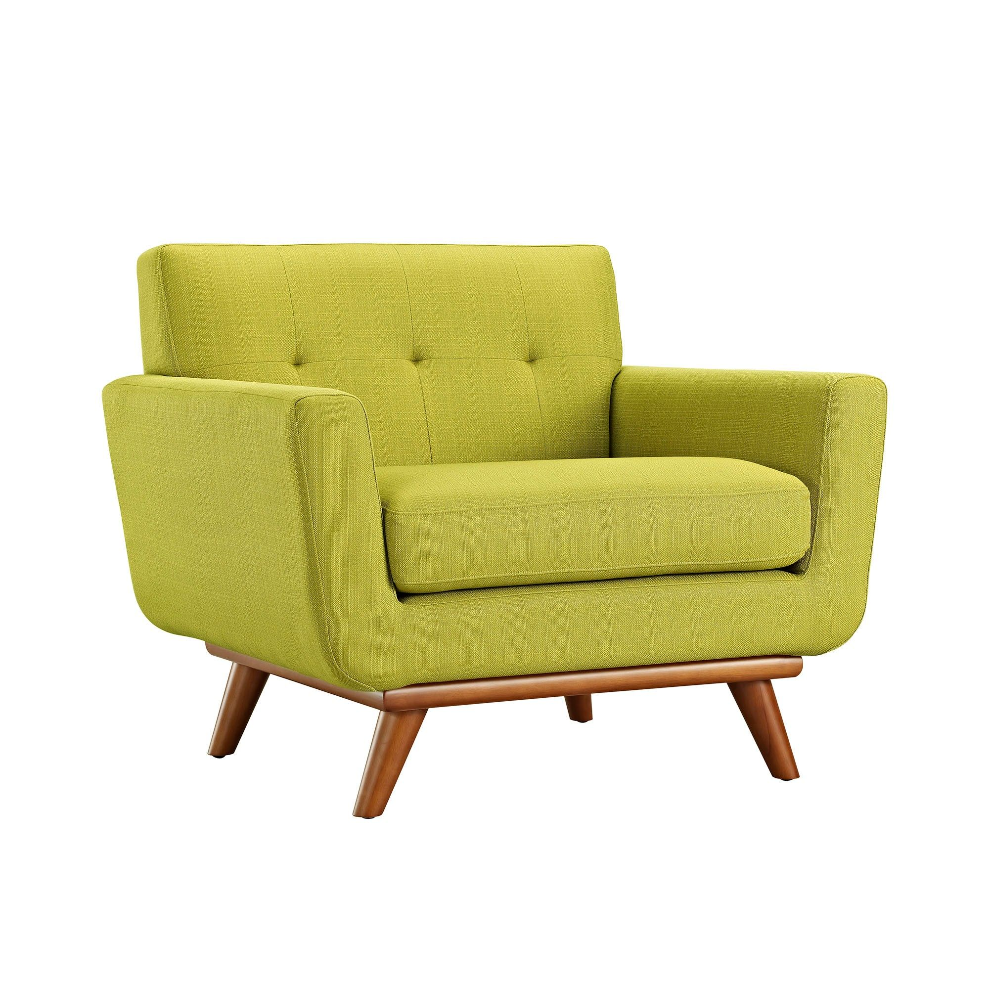 Engage upholstered armchair wheatgrass green modway