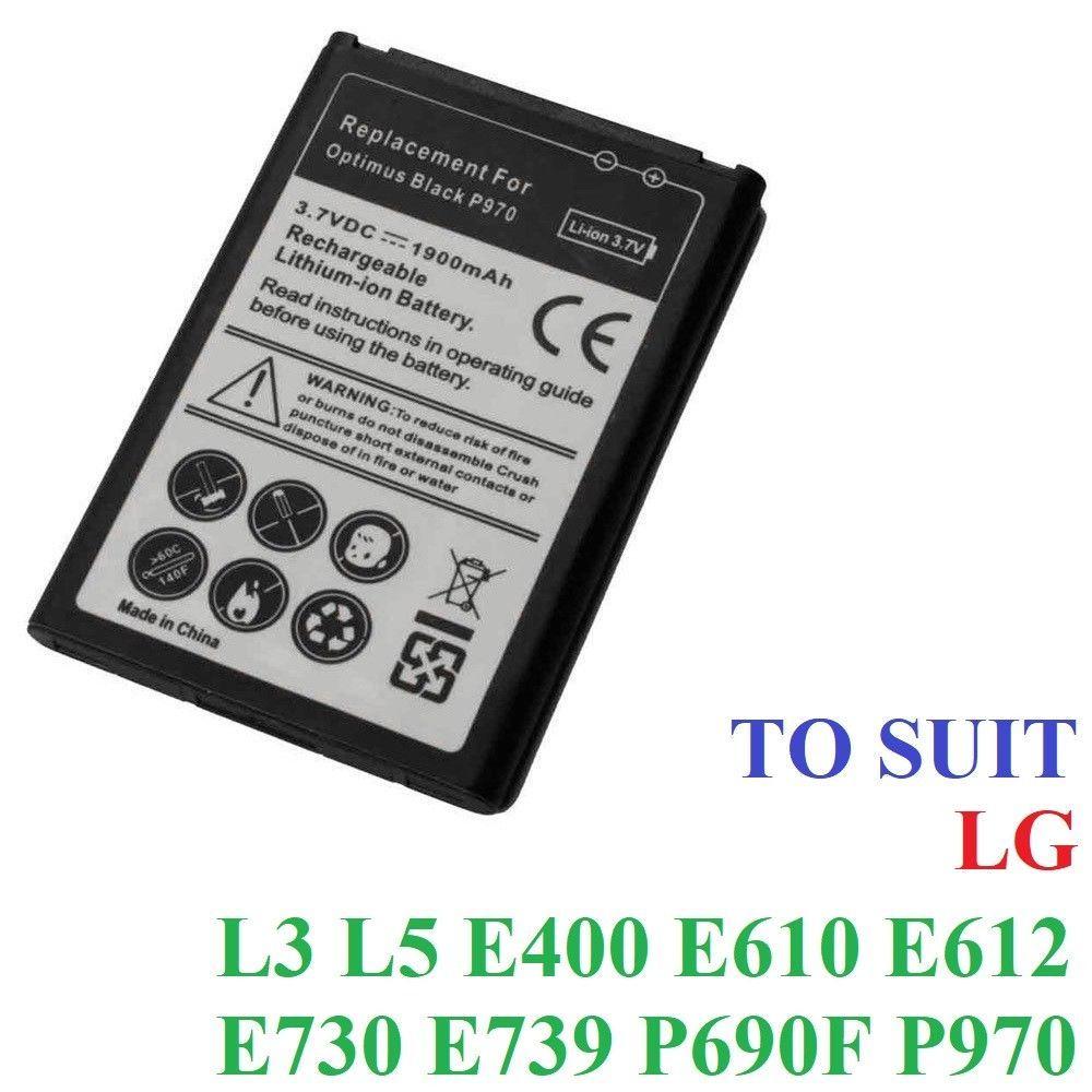 1900mah Quality Replacement Battery Lg L3 L5 E610 E612