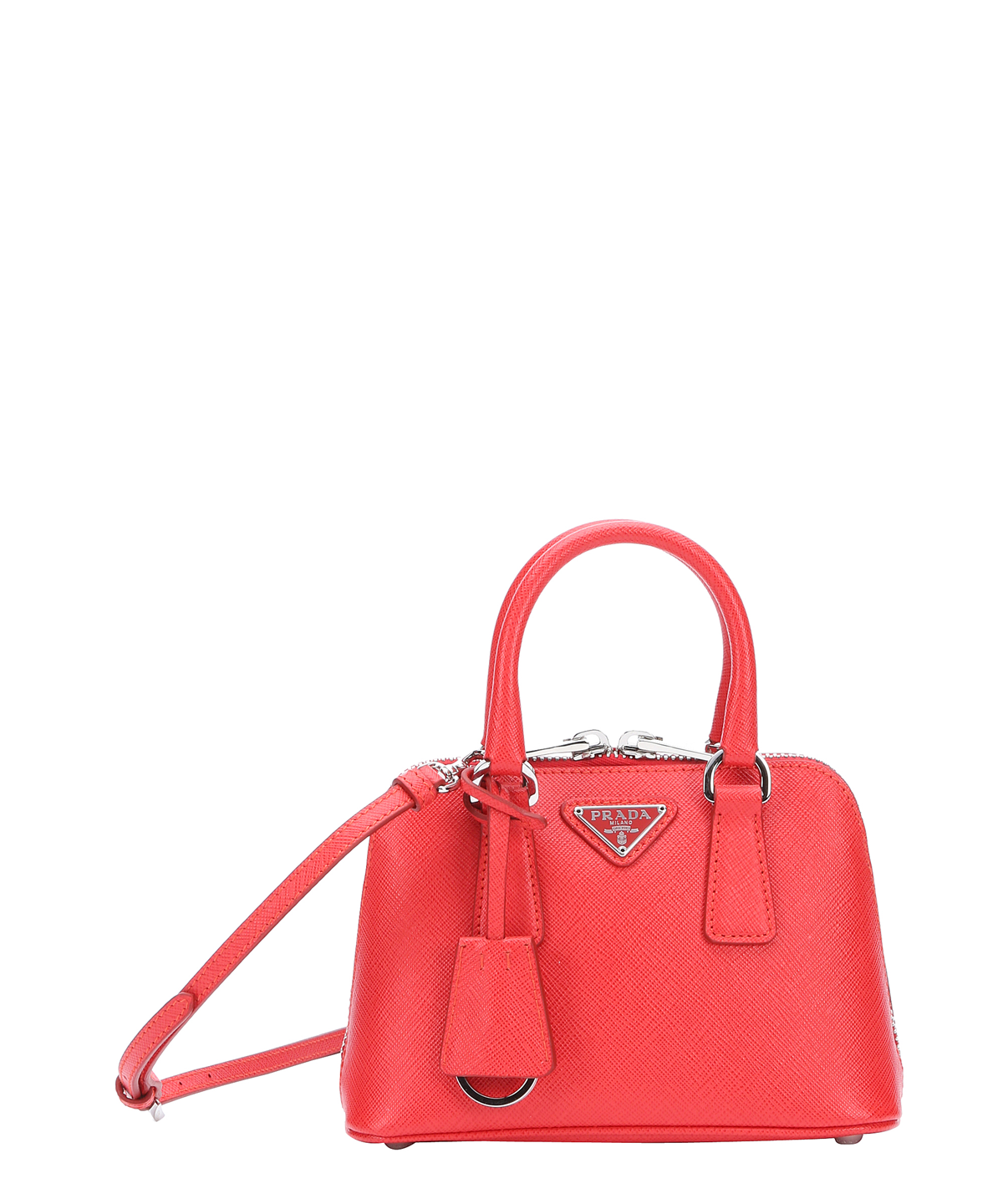 PRADA Red Saffiano Leather Mini Convertible Dome Satchel .  prada  bags   shoulder bags  hand bags  leather  satchel  lining   46ffbbb1ffbb9