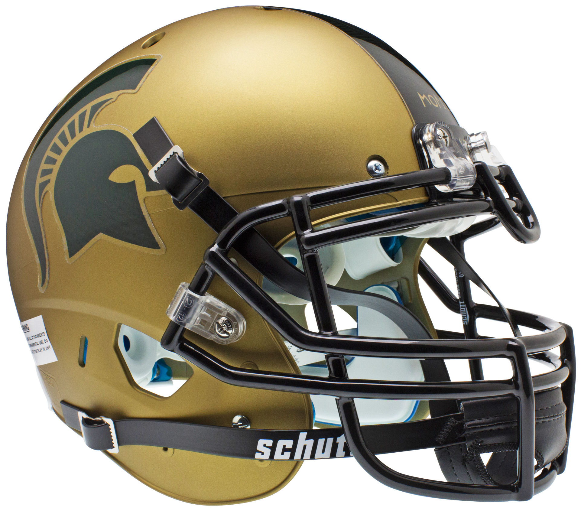 Michigan State Spartans Authentic Schutt Xp Full Size Helmet Gold By Schutt Game Day Trea Football Helmets Michigan State Spartans College Football Helmets