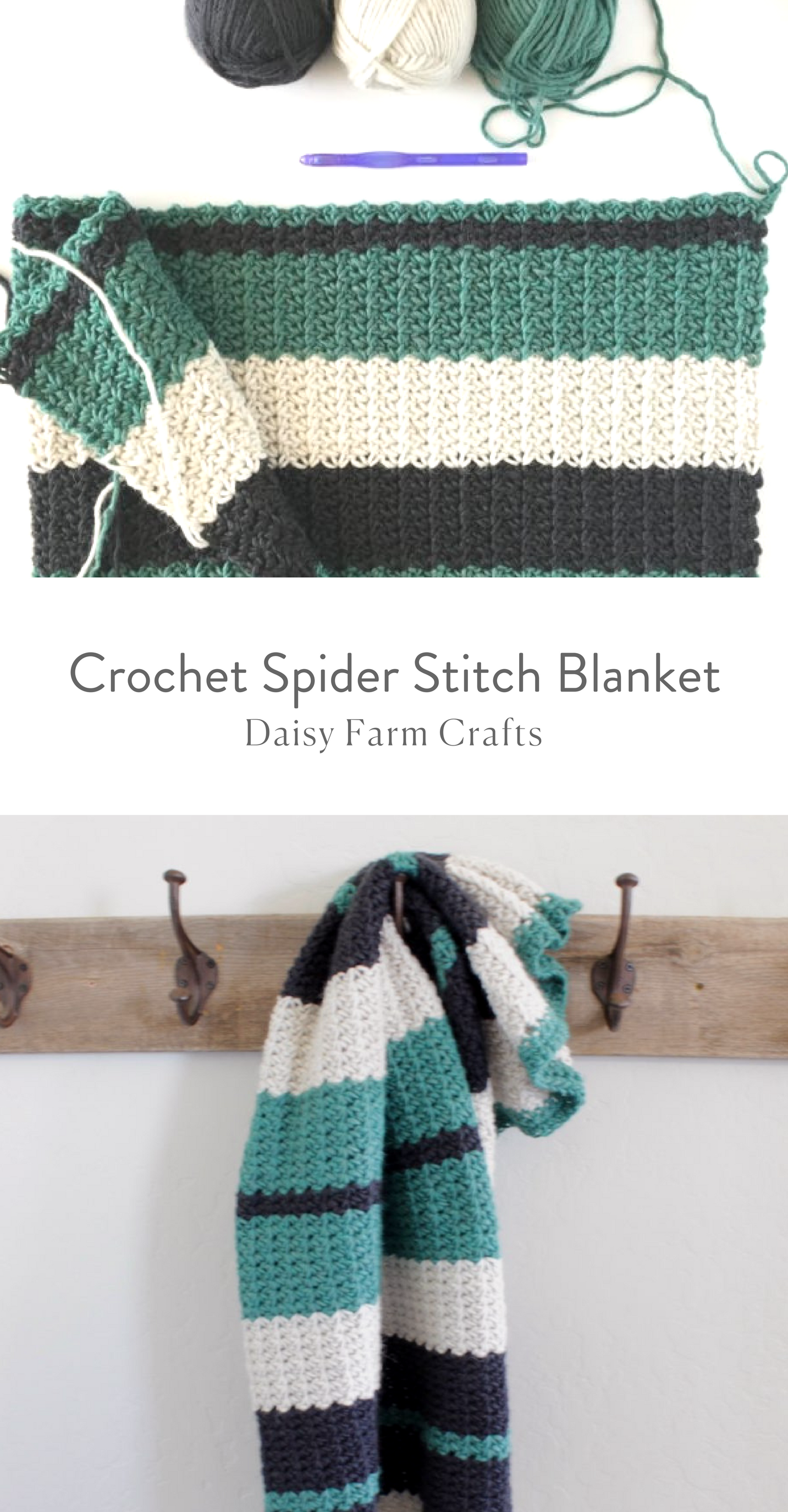 Free Pattern - Crochet Spider Stitch Blanket | Daisy Farm Crafts ...