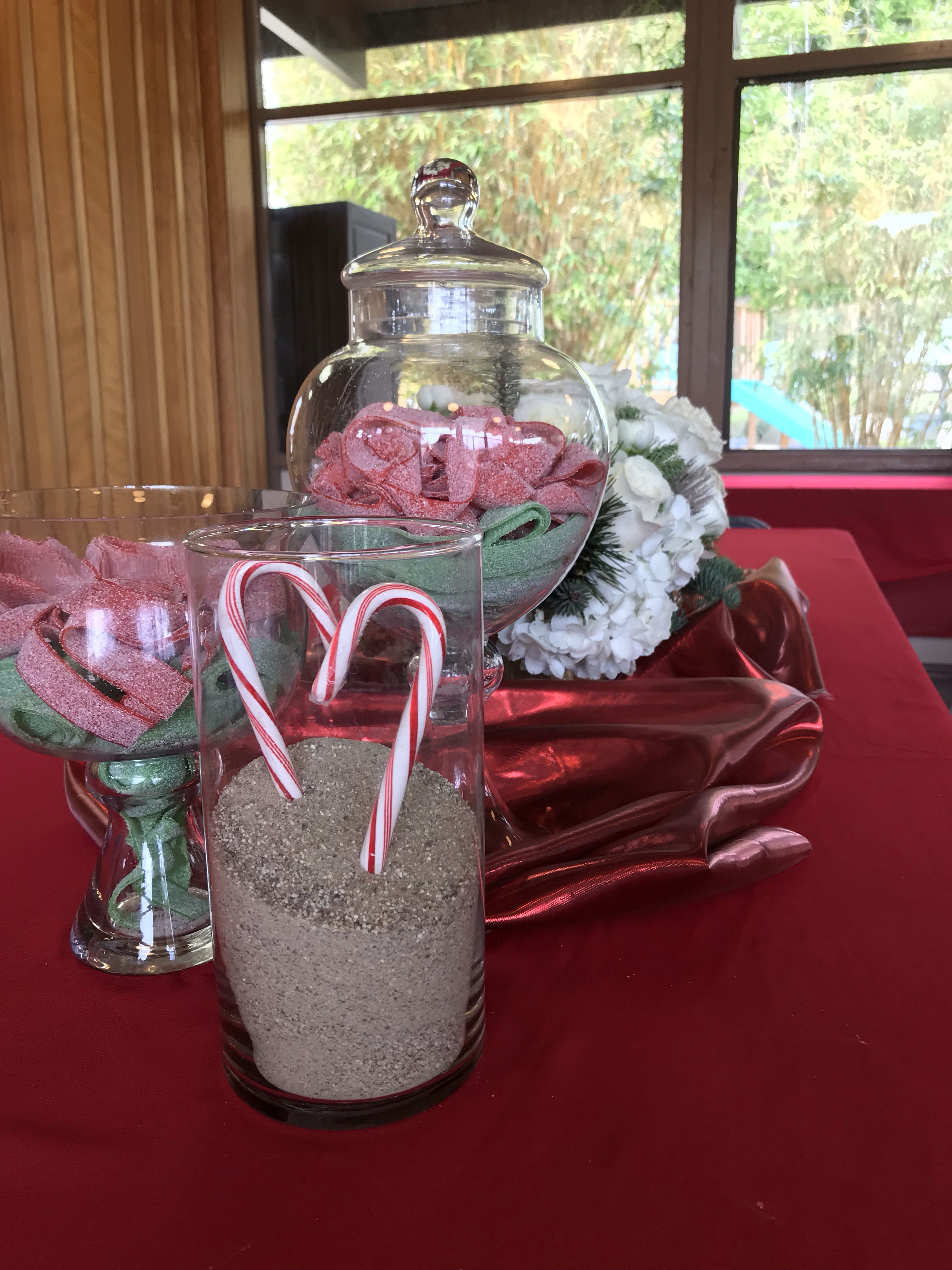 Candy Decor For Beach Themed Christmas Party Or Simple Rustic
