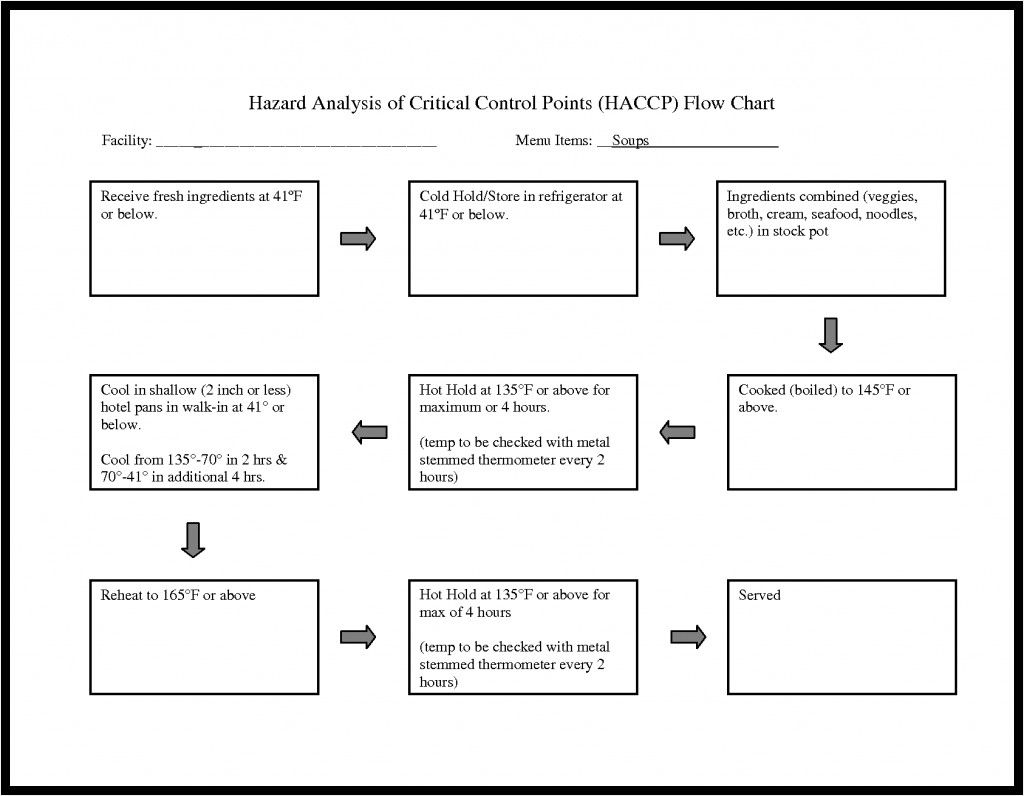 Printable Flow Chart Template New 6 Best Blank Haccp Flow Chart Template Printable In 2020 Flow Chart Template Flow Chart Letter Template Word