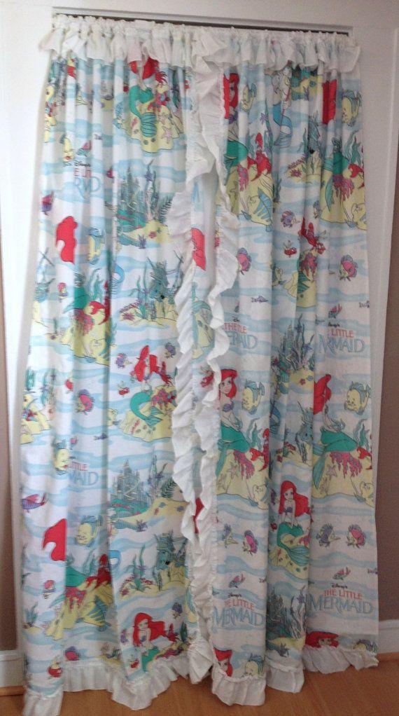 Vintage Little Mermaid Curtains XD