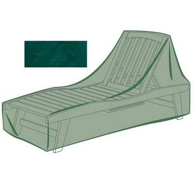 All Weather Outdoor Cover For Long Chaise Lounge Green Plow