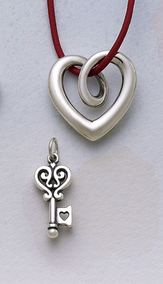 LOVE these!!! Heart Strings Pendant & Key to My Heart Charm  #jamesavery