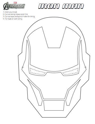 Iron Man Mask Craft Iron Man Mask Iron Man Birthday
