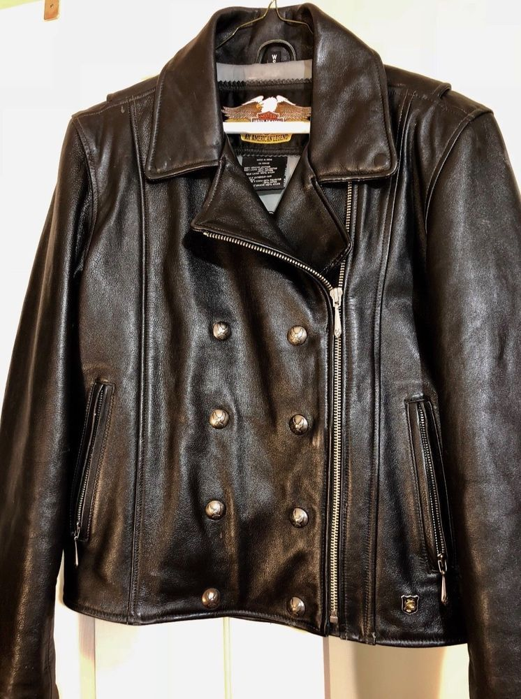 Women's Harley Davidson Leather Jacket Size Small