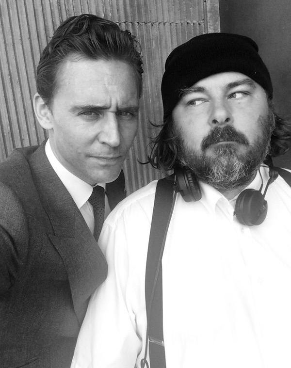 Tom Hiddleston on the set of High Rise