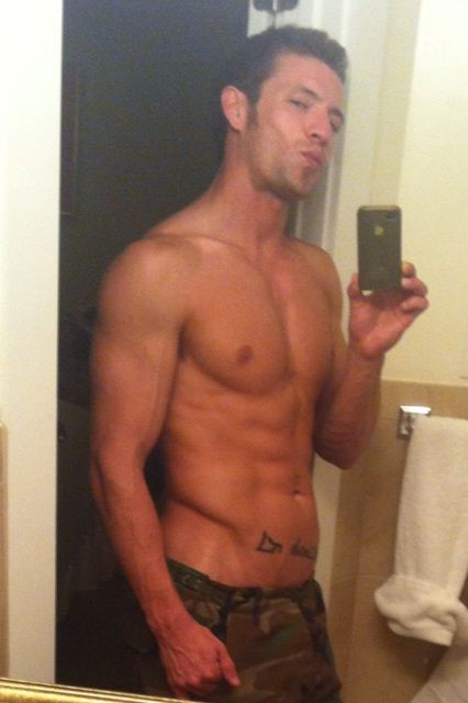 Kevin Crows Shirtless Selfie
