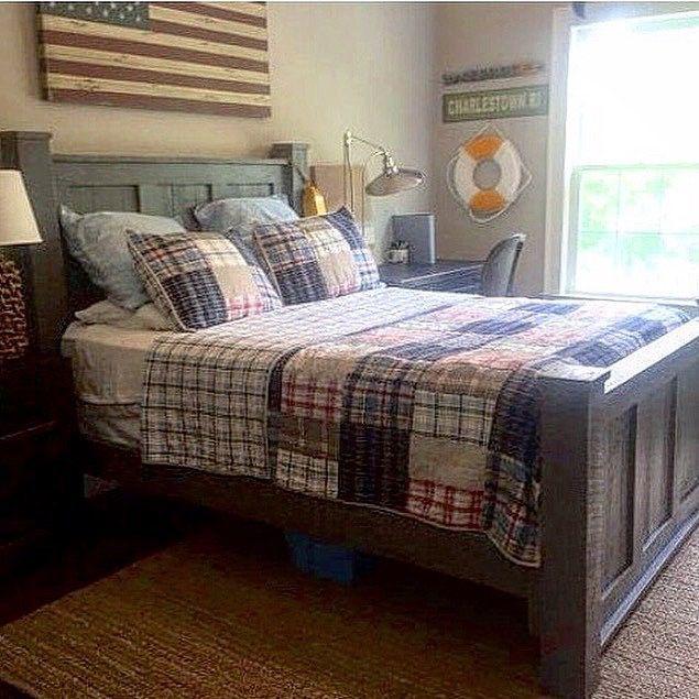 pinsue satterfield on beds  bedrooms  reclaimed wood