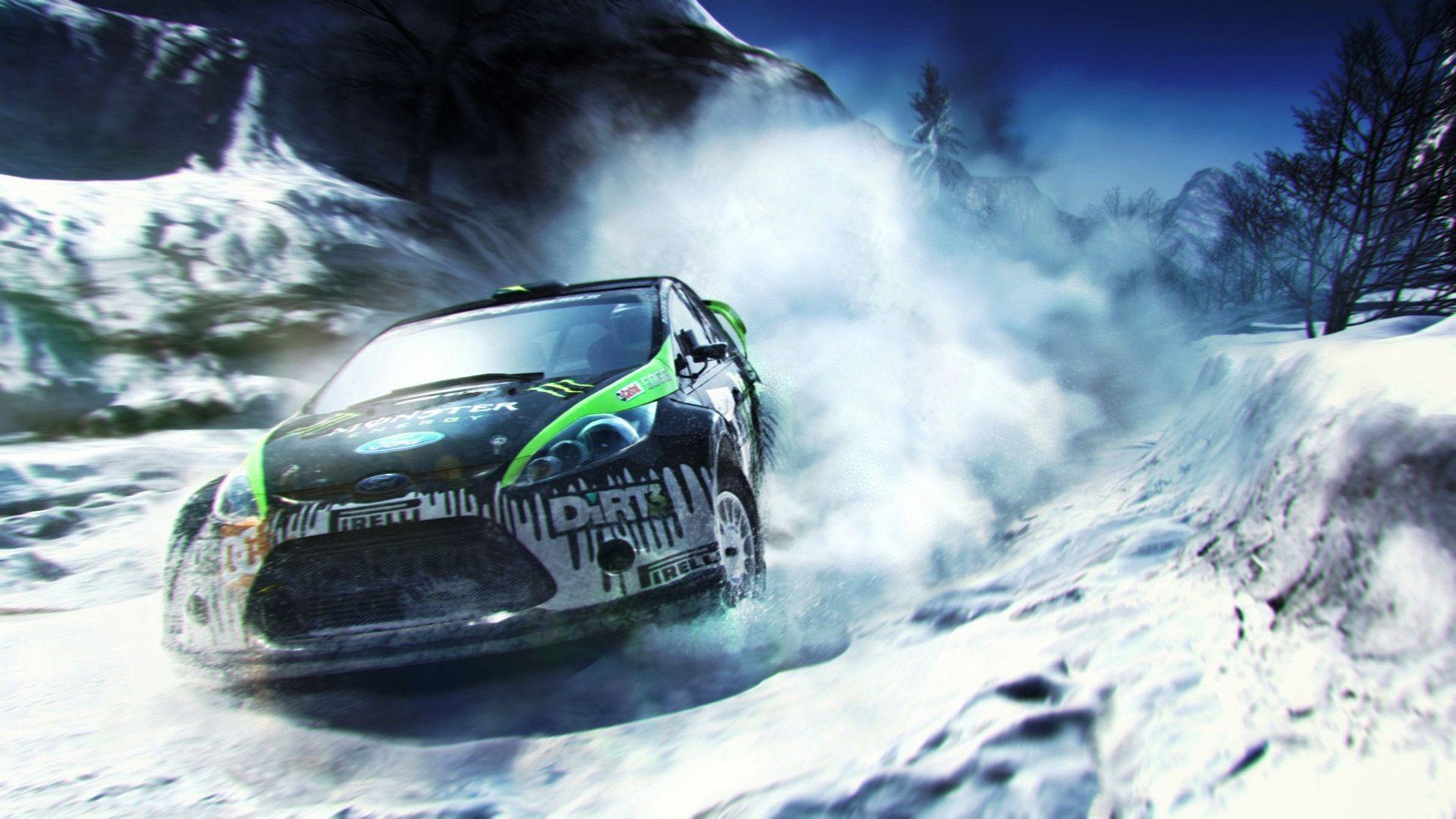 Rally car snow hd hd 1080p wallpapers download eeee - Car racing wallpaper free download ...