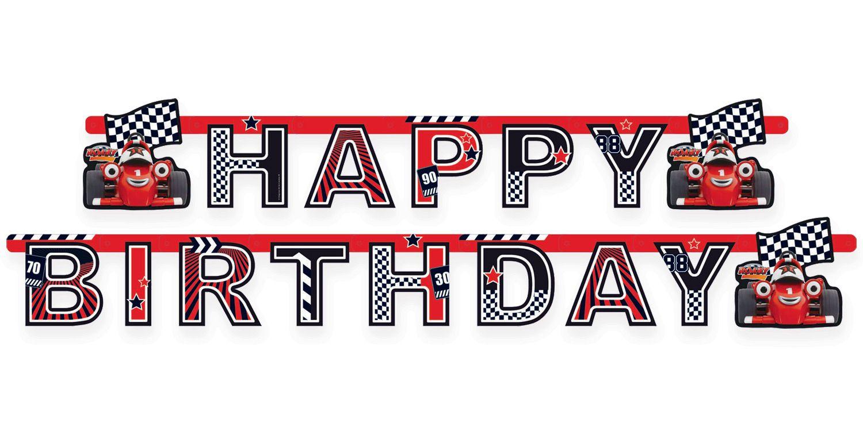 Happy Birthday Race Car Banner