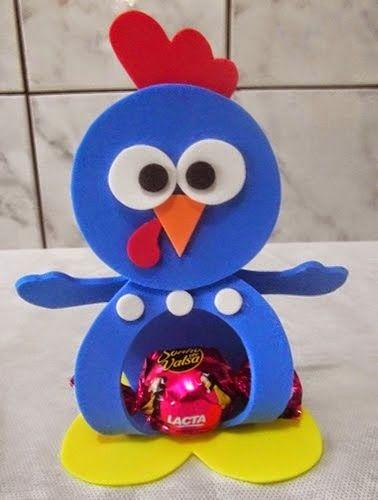Eu Amo Artesanato: Porta bombom galinha pintadinha