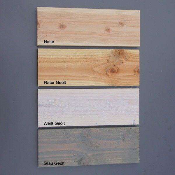 Geöltes Holz Streichen farbauswahl natur natur geölt weiß geölt grau geölt