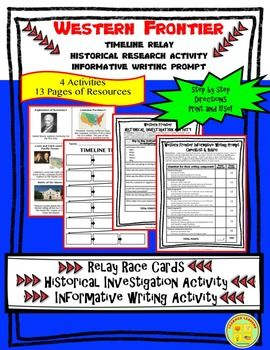 us history western frontier timeline writing prompt paper