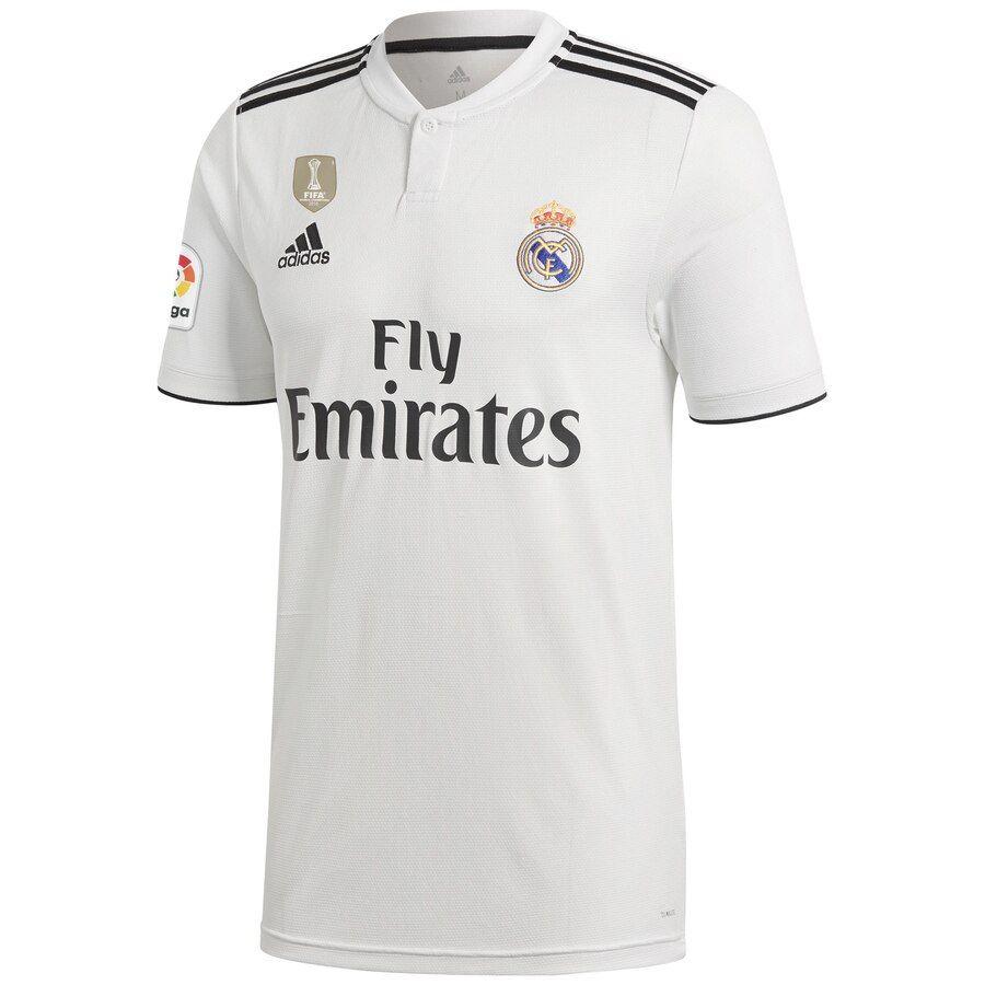 Real Madrid adidas 201819 Home Replica Custom Jersey
