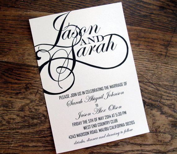 Pin By Summah Mo On Wedding Ideas Non Decor: Elegant Modern Wedding Invitation Script Font By