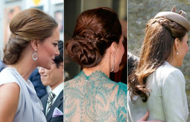 The Duchess of Cambridge trades tumbling tresses for chic chignon