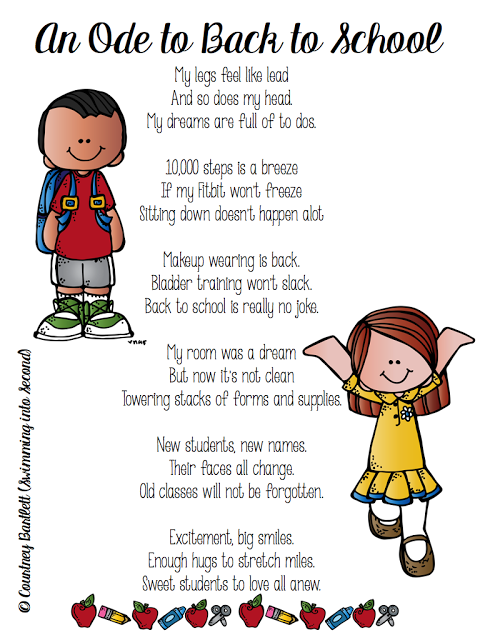 An Ode To Back To School Classroom Printables Back To