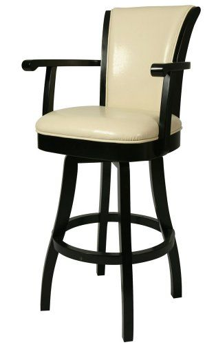 Pastel Furniture Gl 217 30 Fb 866 Glenwood Swivel Barstool With Arms 30 Inch Feher Black And Cream Leather Furniturendecor Com Swivel Bar Stools Leather Swivel Bar Stools Wood Bar Stools