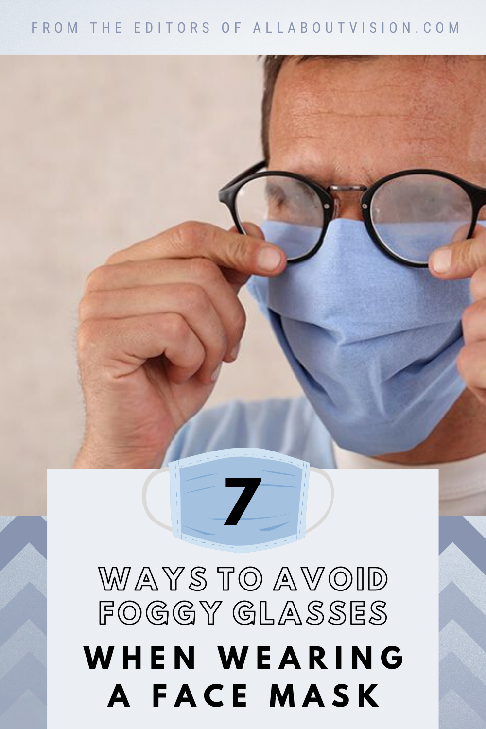 7 ways to avoid foggy glasses when wearing a face mask in