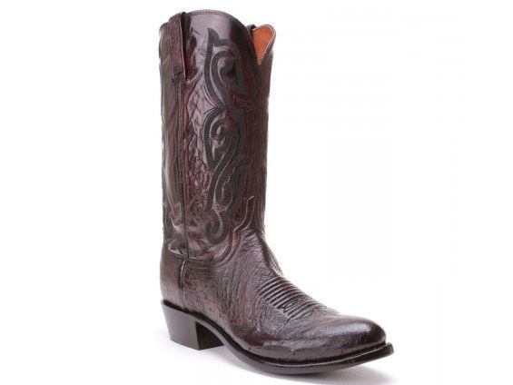 2c1e1a71392 Shop New Lucchese A1022 Mens Smooth Ostrich and Goat Leather Western ...