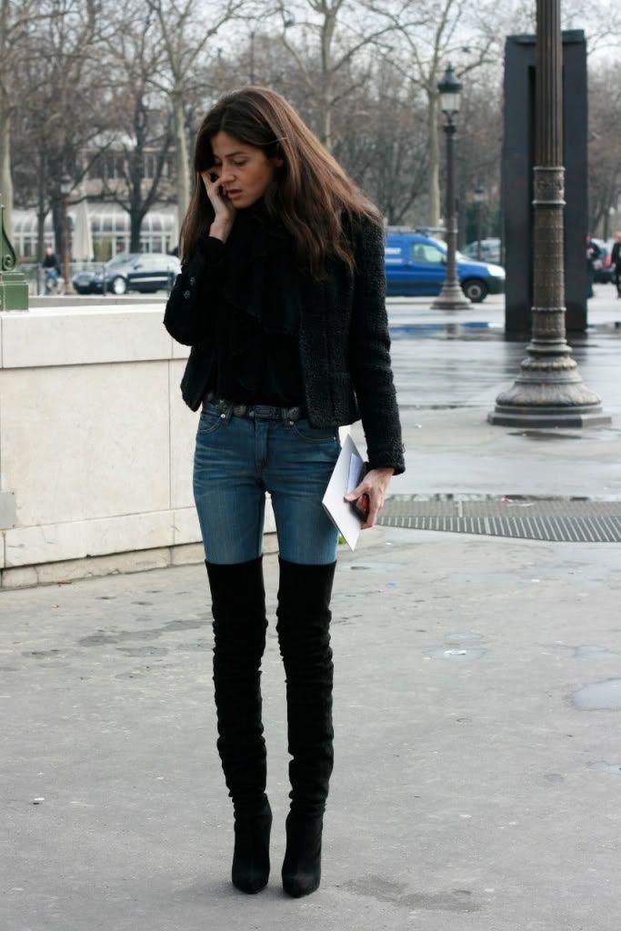 Barbara Martelo in thigh high boots   Kläder, Klädstilar